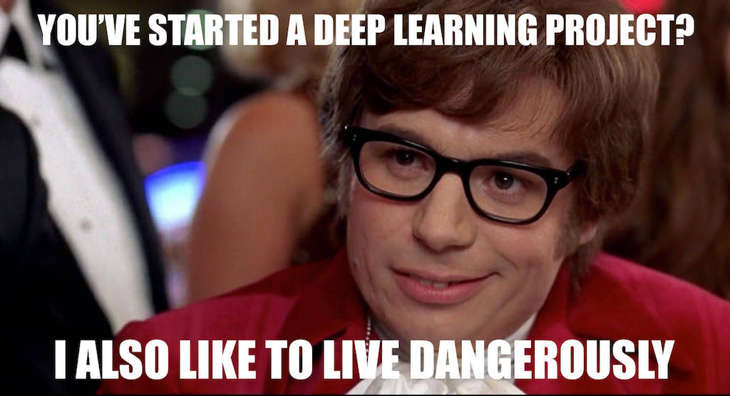 you've started a deep learning project ? i also like to live dangerously