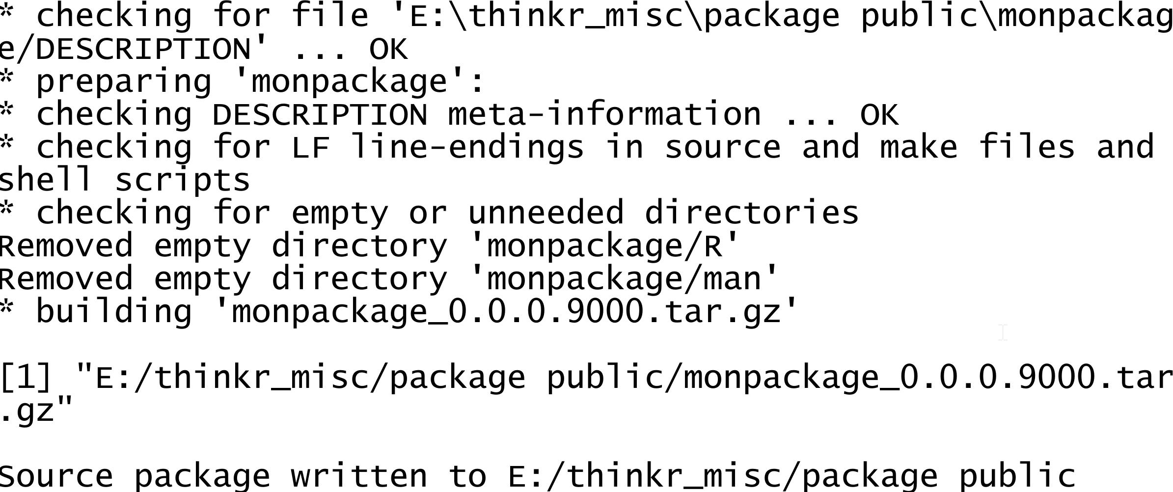 Créer un package R en quelques minutes - ThinkR