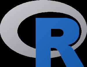 logo du langage de programmation et logiciel R