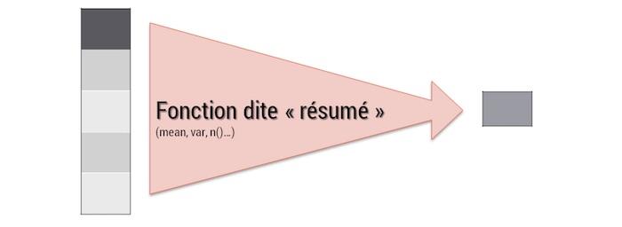 fonction summarise du package dplyr